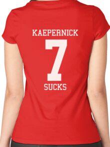 KAEPERNICK SUCKS Women's Fitted Scoop T-Shirt