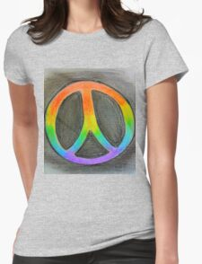 Rainbow peace Womens Fitted T-Shirt