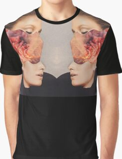 2 Faced. Explosion. Collage ® Graphic T-Shirt