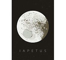 iapetus   moon of saturn Photographic Print