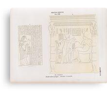 0438 Neues Reich Dynastie XVIII El Amarna Tell el Amarna Nördliche Gräbergruppe a Grab 4 b Grab 6 Canvas Print