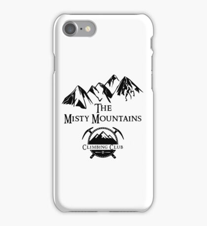 Misty Mountains Climbing Club, LOTR Parody  iPhone Case/Skin