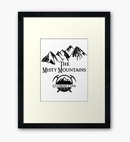 Misty Mountains Climbing Club, LOTR Parody  Framed Print