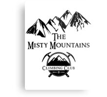 Misty Mountains Climbing Club, LOTR Parody  Metal Print