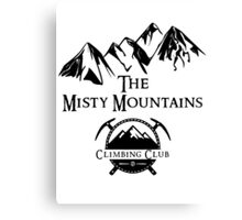 Misty Mountains Climbing Club, LOTR Parody  Canvas Print