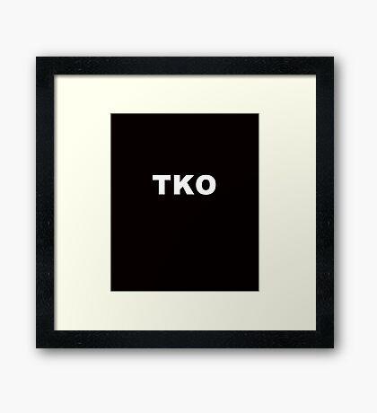 TOTAL KNOCKOUT. Framed Print