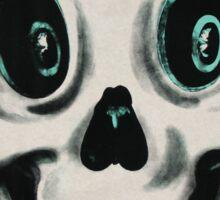 Retro Halloween Skull Sticker Sticker