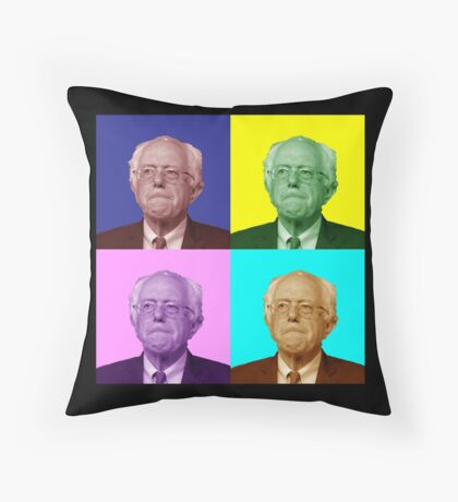 Bernie Sanders Popart Throw Pillow