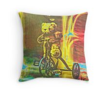 Teddy Bear Ride Throw Pillow