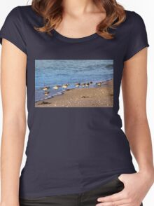 Beachcombers 2 – Sandpipers on the Beach  Women's Fitted Scoop T-Shirt