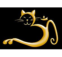 Om Kitty - Liquid Gold Photographic Print