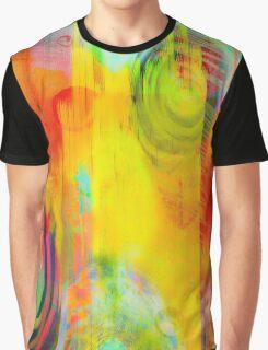 Rain Drops on Color Paper Graphic T-Shirt