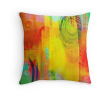 Rain Drops on Color Paper Throw Pillow