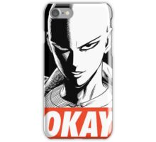 one_man_punch_okay_face iPhone Case/Skin