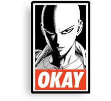 one_man_punch_okay_face Canvas Print