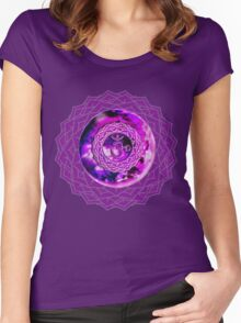 Crown Chakra Solo 2 Women's Fitted Scoop T-Shirt