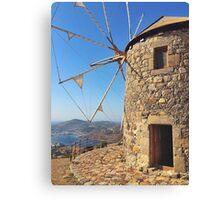Windmills HIgh above Patmos  Canvas Print