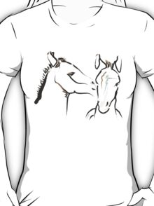 Cute T-shirt - horse - together 6 T-Shirt