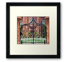 Garden Gate Framed Print