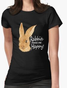 Rabbits love! Womens Fitted T-Shirt