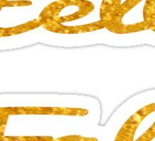 Hello Fall in Gold  Sticker