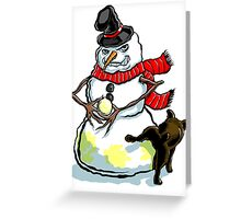 Sinister Snow Man Greeting Card