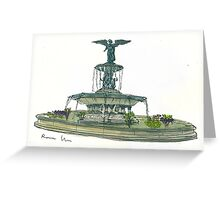 Bethesda Fountain Greeting Card