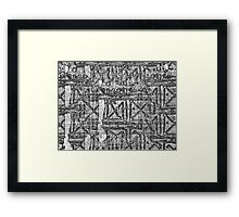 Sequence - Language Of Glue Framed Print