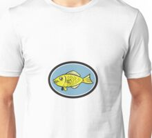 Gourami Fish Side View Oval Cartoon Unisex T-Shirt
