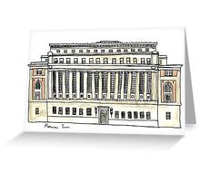 Butler Library Greeting Card