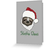 Slotha Claus Greeting Card