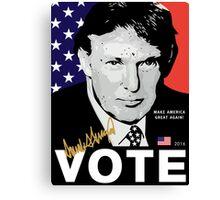 Donald J. Trump 'VOTE' Poster 2016 [HD] Canvas Print