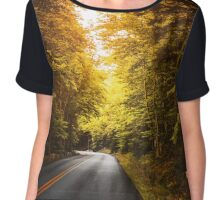 autumn road Chiffon Top