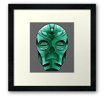 traditional dragon priest mask Framed Print