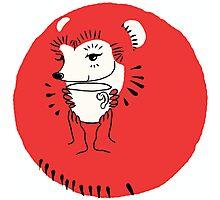 Tea Time for Hedgehog Photographic Print