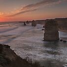 Sunset at Port Campbell by Karine Radcliffe