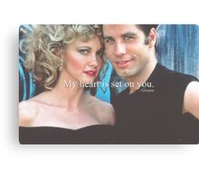 My heart is set on you. Canvas Print