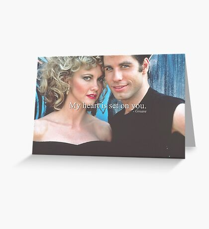 My heart is set on you. Greeting Card