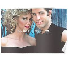 My heart is set on you. Poster