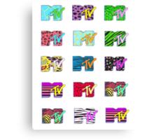 MTV Logos Canvas Print