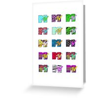 MTV Logos Greeting Card