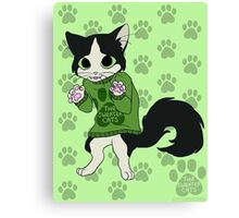 thesweatercats - Fluffy Canvas Print