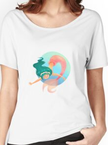 Green haired Mermaid Women's Relaxed Fit T-Shirt