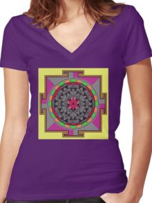 ARCHON ROSE 53 Women's Fitted V-Neck T-Shirt