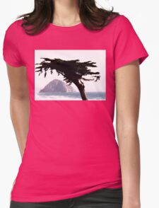 MONTEREY PINE WITH MORRO ROCK Womens Fitted T-Shirt
