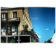 Old French Quarter Buildings Poster