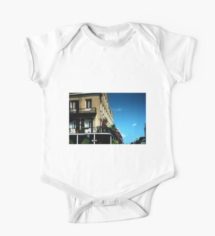Old French Quarter Buildings One Piece - Short Sleeve