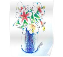 Hibiscus in a Jar Poster