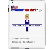 Trump Quest '16 Adventure Game T-Shirt - Retro Computer Game  iPad Case/Skin