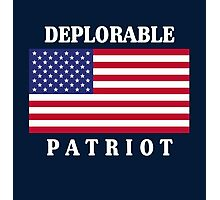 Deplorable Patriot for US Photographic Print